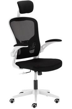 Fotel Biurowy Ergonomiczny Ts Interior Lester Obrotowy Szaro-Biały