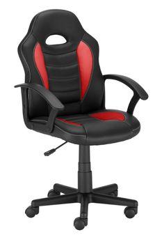 Fotel Gamingowy Obrotowy Ts Interior Sagita Czarno-Czerwony