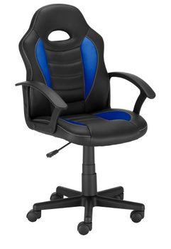 Fotel Gamingowy Obrotowy Ts Interior Sagita Czarno-Niebieski