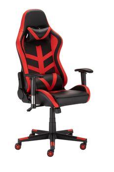 Fotel Gamingowy Obrotowy Ts Interior Techno Czarno-Czerwony