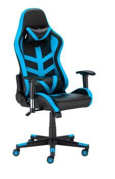 Fotel Gamingowy Obrotowy Ts Interior Techno Czarno-Niebieski