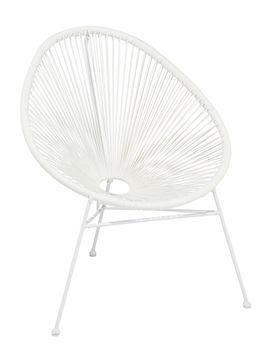 Fotel Ogrodowy T-Rattan Krzesło Biały