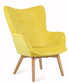 Fotel TS INTERIOR Arona Żółty