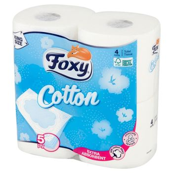 Foxy Cotton Papier toaletowy 4 sztuki