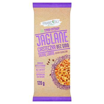 FrancOli Bezglutenowe ciasteczka jaglane z dodatkiem siemienia lnianego 120 g