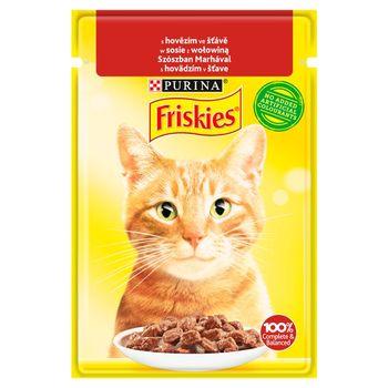 Friskies Karma dla kotów w sosie z wołowiną 85 g