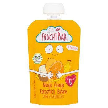 FruchtBar Ekologiczny mus owocowy mango pomarańcz mleko kokosowe banan 100 g