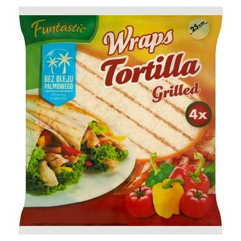 Funtastic Tortilla pszenna grillowana 250 g (4 x 62,5 g)