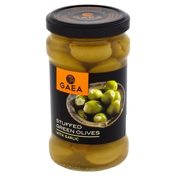 Gaea Zielone oliwki z czosnkiem 295 g