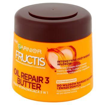 Garnier Fructis Oil Repair 3 Butter Maska wzmacniająca 3 w 1 do włosów suchych i zniszczonych 300 ml