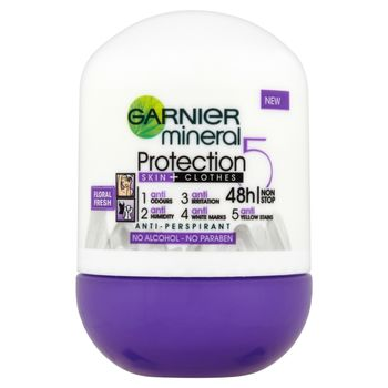 Garnier Mineral Protection 5 Floral Fresh Antyperspirant w kulce bez alkoholu 50 ml
