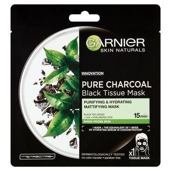 Garnier Skin Naturals Pure Charcoal Oczyszczająca maska na tkaninie z węglem 28 g
