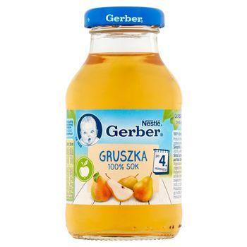 Gerber 100% sok gruszka po 4. miesiącu 200 ml