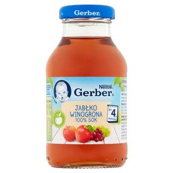 Gerber 100% sok jabłko winogrona po 4. miesiącu 200 ml