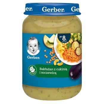 Gerber Bakłażan z cukinią i soczewicą dla niemowląt po 8. miesiącu 190 g