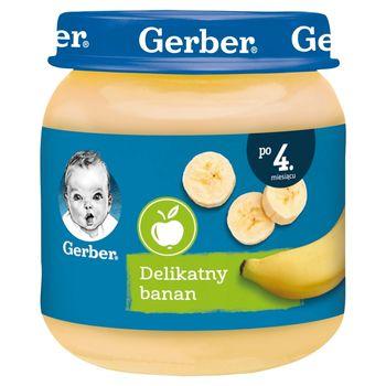 Gerber Delikatny banan dla niemowląt po 4. miesiącu 125 g
