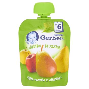 Gerber Deserek Jabłko gruszka po 6 miesiącu 90 g