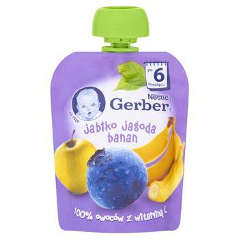 Gerber Deserek Jabłko jagoda banan po 6 miesiącu 90 g
