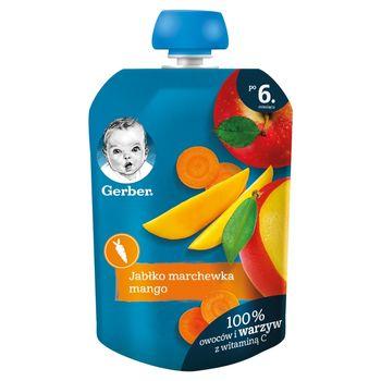 Gerber Deserek jabłko marchewka mango dla niemowląt po 6. miesiącu 90 g