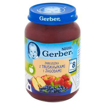 Gerber Jabłuszka z truskawkami i jagodami po 8 miesiącu 190 g