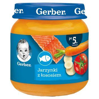 Gerber Jarzynki z łososiem dla niemowląt po 5. miesiącu 125 g