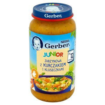 Gerber Junior Jarzynowa z kurczakiem i kluseczkami po 12 miesiącu 250 g