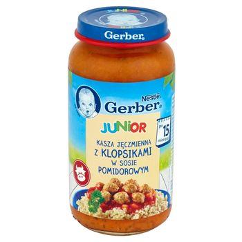 Gerber Junior Kasza jęczmienna z klopsikami w sosie pomidorowym po 15 miesiącu 250 g