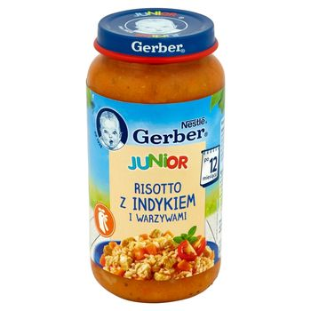 Gerber Junior Risotto z indykiem i warzywami po 12 miesiącu 250 g