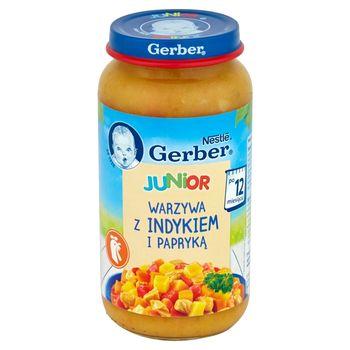 Gerber Junior Warzywa z indykiem i papryką po 12 miesiącu 250 g