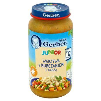 Gerber Junior Warzywa z kurczakiem i kaszą po 12 miesiącu 250 g