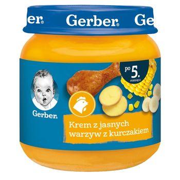 Gerber Krem z jasnych warzyw z kurczakiem dla niemowląt po 5. miesiącu 125 g