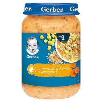 Gerber Krupniczek drobiowy z warzywami dla niemowląt po 9. miesiącu 190 g
