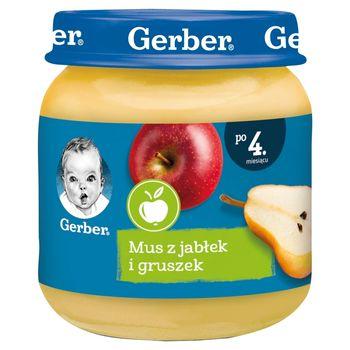 Gerber Mus z jabłek i gruszek dla niemowląt po 4. miesiącu 125 g