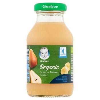 Gerber Organic Nektar gruszka banan po 4. miesiącu 200 ml