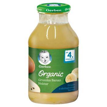 Gerber Organic Nektar gruszka banan dla niemowląt po 4. miesiącu 200 ml