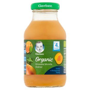 Gerber Organic Nektar gruszka morela po 4. miesiącu 200 ml