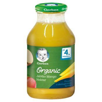 Gerber Organic Nektar jabłko mango dla niemowląt po 4. miesiącu 200 ml