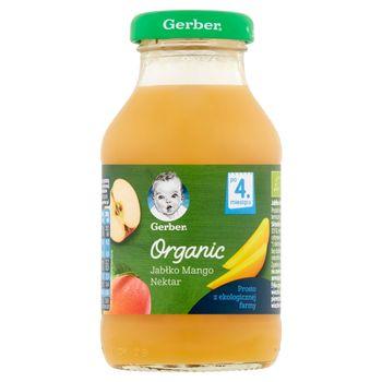 Gerber Organic Nektar jabłko mango po 4. miesiącu 200 ml