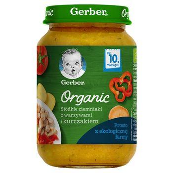 Gerber Organic Słodkie ziemniaki z warzywami i kurczakiem po 10. miesiącu 190 g