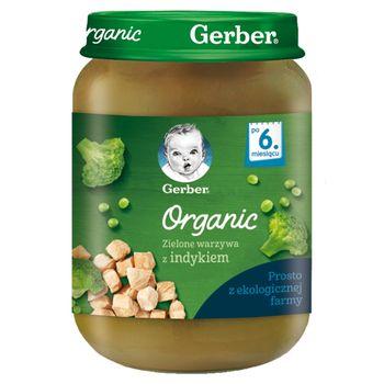 Gerber Organic Zielone warzywa z indykiem dla niemowląt po 6. miesiącu 190 g