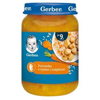 Gerber Potrawka z indykiem i ryżem dla niemowląt po 9. miesiącu 190 g
