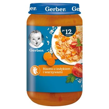 Gerber Risotto z indykiem i warzywami dla dzieci po 12. miesiącu 250 g