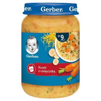 Gerber Rosół z cielęcinką dla niemowląt po 9. miesiącu 190 g