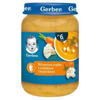 Gerber Wiosenna zupka z indykiem i koperkiem dla niemowląt po 6. miesiącu 190 g