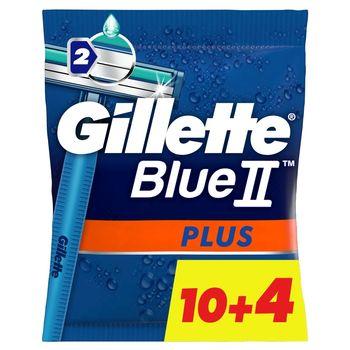 Gillette Blue II Plus Maszynki jednorazowe dla mężczyzn 14 sztuk