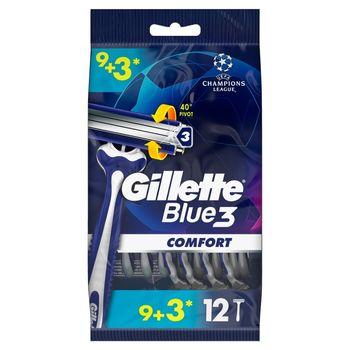 Gillette Blue3 Comfort Jednorazowa maszynka do golenia dla mężczyzn, 9+3 sztuki