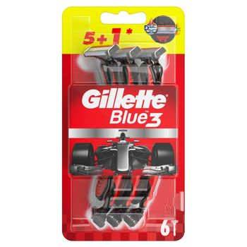 Gillette Blue3 Jednorazowa maszynka do golenia dla mężczyzn, 6 sztuk