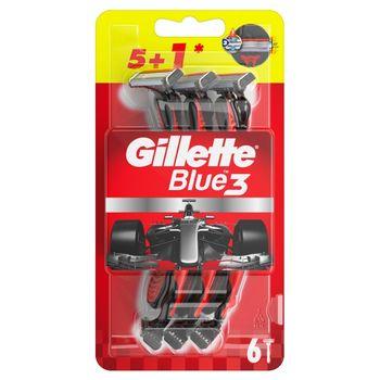 Gillette Blue3 Nitro Jednorazowa maszynka do golenia dla mężczyzn, 5+1 sztuk