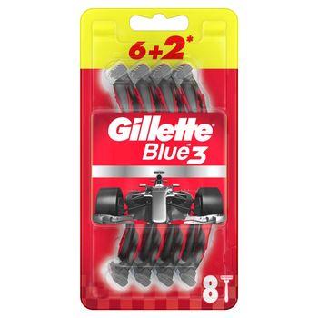 Gillette Blue3 Nitro Jednorazowa maszynka do golenia dla mężczyzn, 6+2 sztuki