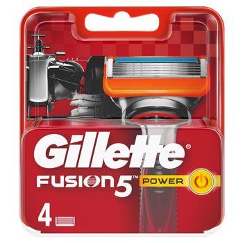 Gillette Fusion5 Power Ostrza wymienne do maszynki, 4 sztuki